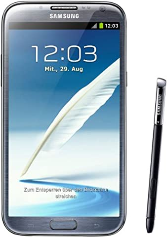 Samsung Galaxy Note II N7100 Smartphone 16GB (14 cm (5,5 Zoll) HD Super AMOLED Touchscreen, Quad-core, 1,6GHz, 8 Megapixel Kamera, Android 4.1)