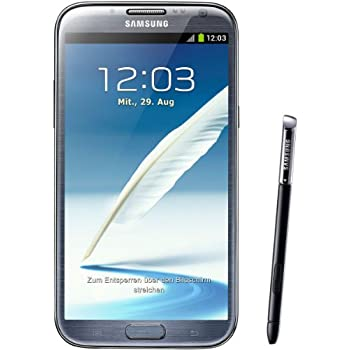 Samsung Galaxy Note II N7100 Smartphone 16GB (14 cm (5,5 Zoll) HD Super AMOLED Touchscreen, Quad-core, 1,6GHz, 8 Megapixel Kamera, Android 4.1) titanium-grau