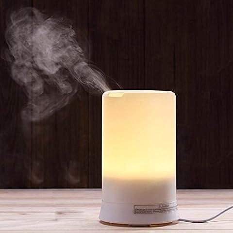 Olio essenziale diffusore, Pechon Aroma 100ml Olio Essenziale fresco Aromaterapia diffusore Air Purifier Sereno umidificatore con il colore della luce, senz'acqua Auto Shut-off per la casa, lo Yoga, Ufficio, Spa LED