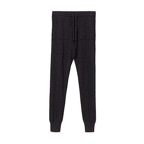 """Loungewear-kollektion (URBANARA Jogginghose/Kaschmirhose """"Nora"""" – 100% reine Kaschmir-Woll-Mischung, Anthrazit, elastischer Bund und Kordelzug – Größe S)"""