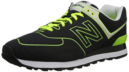 New Balance Ml574 D, Baskets mode homme Black/orange