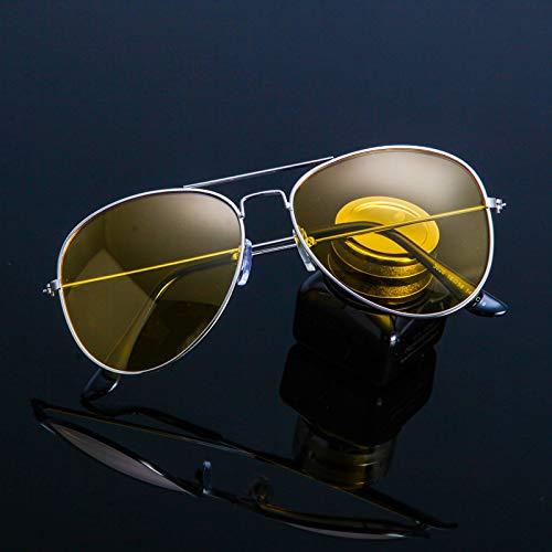CFLFDC Sonnenbrillen Polarisierte Männer-sonnenbrille Polarisierte Outdoor-sportbrillen Brille 100% Uv400 Schutzbrillen Ms. Sonnenbrille 0069 Silver Frame Night View Kastentuch