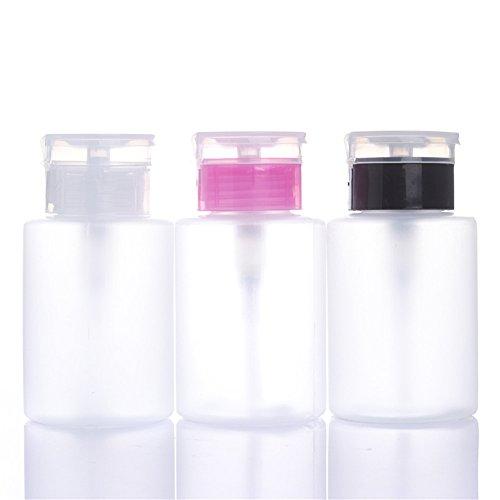 coulorbuttons 150ml Klar leer Pumpspender Cleanser Flasche drücken Manicure Nail Polish Remover Alkohol Flasche (Alkohol-pumpspender)