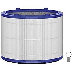 Dyson 967302-07 1pieza(s) - Filtro de aire (Azul, Gris, Blanco, 99,95%, Dyson Pure Cool Link Tischluftreiniger, Dyson Pure Hot+Cool Link Luftreiniger, 246 mm, 246 mm)