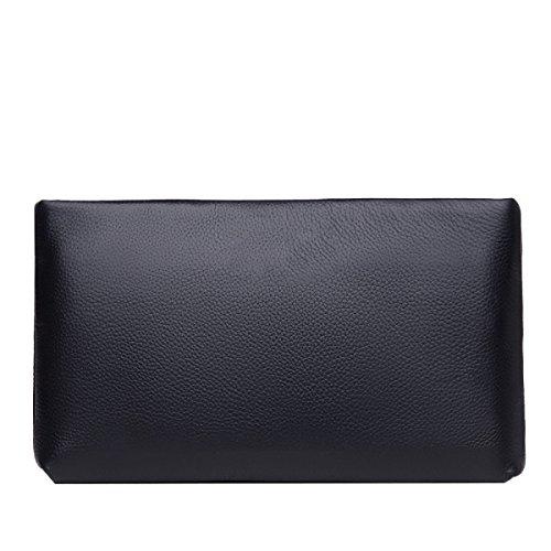 Yy.f Herren-Handtasche Erste Schicht Aus Leder Taschen Leder Weiches Leder Kupplung Mit Hohen Kapazität Business Casual Umschlagbeutel Handtasche Männer 2 Farben Blue