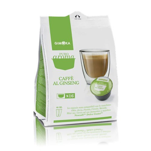 192 CAPSULE COMPATIBILI DOLCE GUSTO GIMOKA CAFFE\' AL GINSENG