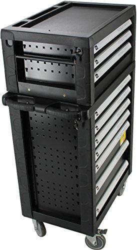 BigBoy V2 Werkstattwagen Werkzeugkiste Kombination - gefüllt mit Handwerkzeug | 10 Schubladen - 8 bestückt | Bit Sets, Ratschen, Nüsse und vieles mehr... - 3
