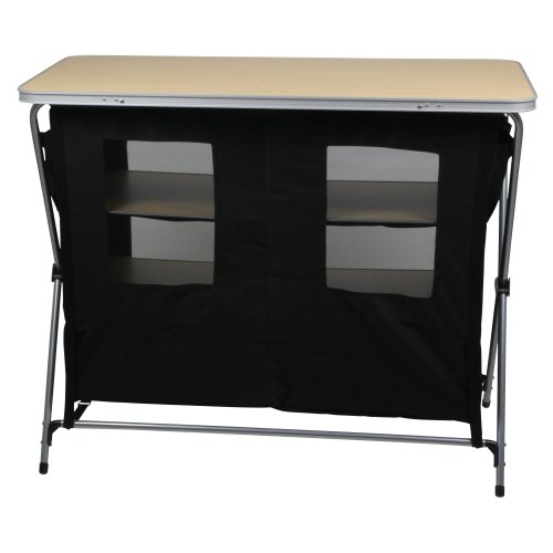 41PexvROfzL. SS500  - 10T Flapbox - Camping cupboard, 6 draws + top storage box, foldable steel frame, 53x110x90 cm