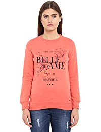 Park Avenue Woman Dark Red Regular Fit Cotton Blend Sweatshirt