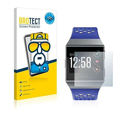 2X BROTECT Flex Full-Cover Bildschirmschutz Schutfolie für Fitbit Ionic (kristallklar, Edge to Edge, Self-Healing, stoßabsorbierend)