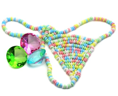 Leckere Damen Candy String aus essbaren Zuckerperlen! Sexy & Sweet! Perfektes Geschenk für Valentinstag!