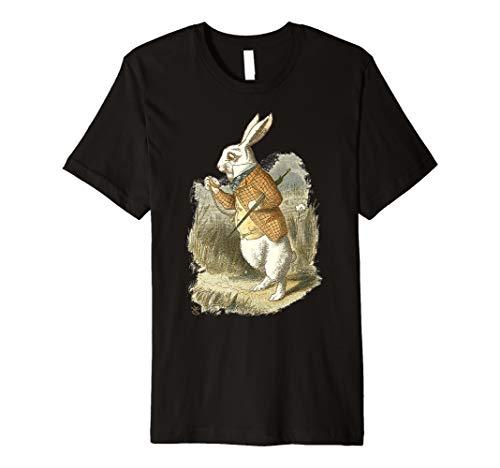 Oster T Shirt weißer Hase Alice im Wunderland Hase Kaninchen