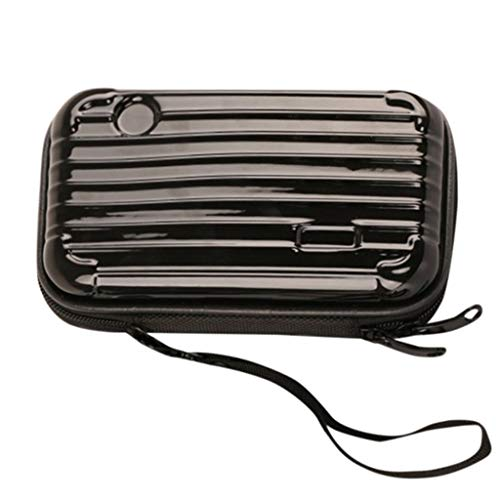 Wanshop  Schminktasche Spotlight Flash Beauty Case Kosmetiktasche Koffer wasserdicht/sturzsicher Die Kosmetiktasche Mini Suitcase (schwarz) (Mini Maus Make Up)