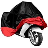 Samgu HOUSSE protection BACHE MOTO velo SCOOTER Taille XXXL rouge noir 295x110x140cm