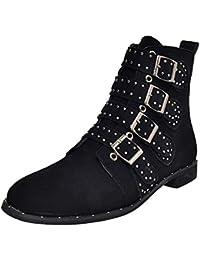 Modaworld scarpe Sexy Moda Donne Stivaletto Corto Stivaletti Colore camoscio  Stivali Scarpe Cerniera Classico Casual Mary c5282b0775d