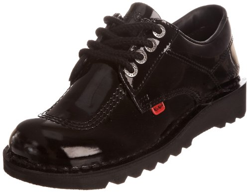 Kickers Women's Kick Lo Patent Shoes - Patent Black, 4 UK