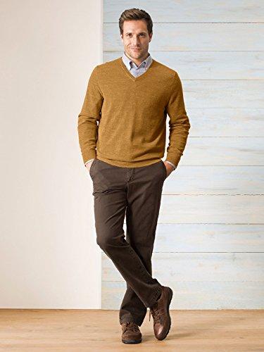 Walbusch Herren CottonPullover einfarbig in den Farben Blau