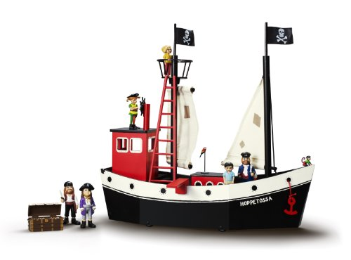 Preisvergleich Produktbild Glow2B Pippi Langstrumpf 44.3713.00 - Piratenschiff Hoppetosse Circa 53 x 20 x 50 cm