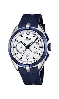 Lotus 18189/1 - Reloj de pulsera hombre, Caucho, color Azul de Lotus