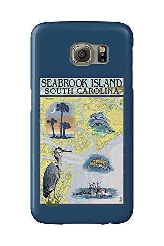 Seabrook Island, South Carolina - Nautical Chart (Galaxy S6 Cell Phone Case, Slim Barely There) -