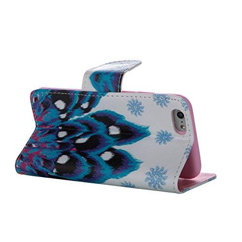 MOONCASE Étui pour Apple iPhone 5 / 5S Printing Series Coque en Cuir Portefeuille Housse de Protection à rabat Case Cover XK28 XK28 #0226