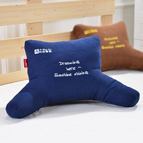 MMM- Coussin Bureau Sangle Oreiller Chevet Chaise Canapé Dossier Pad Siesta Oreillers ( Couleur : Bleu foncé , taille : 53*30*13cm )