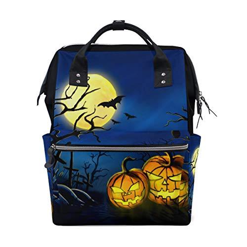 (Halloween Kürbis Spuk Baum Nacht Große Kapazität Windel Taschen Mummy Rucksack Multi Funktionen Wickeltasche Tasche Handtasche Für Kinder Baby Care Travel Täglichen Frauen)