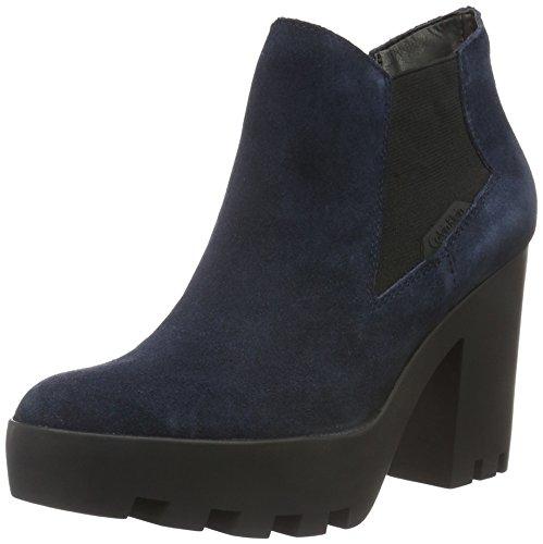 Calvin Klein Jeans - Sandy Suede, Stivali bassi con imbottitura leggera Donna Blau (MNT)