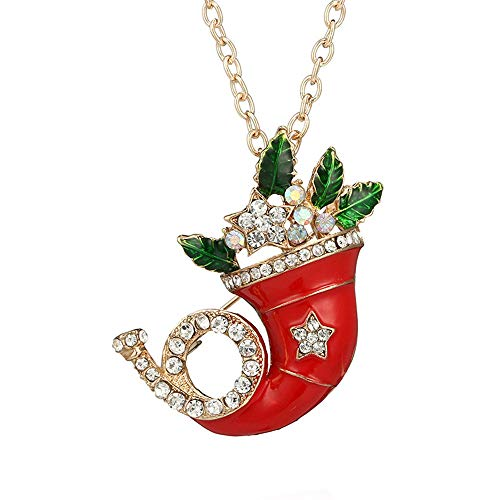 Mypace Anhänger Gold Silber 925 Für Damen Neue Weihnachtsanhänger Weihnachtsmütze Charm Halskette Goldkette Schmuck Geschenk (Gold)