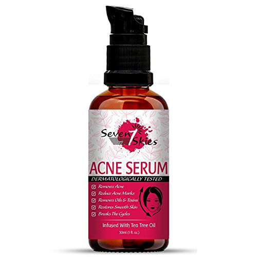 Buy Seven Skies Acne Serum For Clearing Acne Reduces Acne Marks Acne Spot Treatment Infused With Tea Tree Oil For Men & Women (30ml) online in India at discounted price