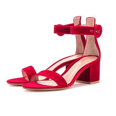 LvYuan Da donna-Sandali-Formale Casual Serata e festa-Altro-Quadrato-Felpato-Nero Marrone Rosa Rosso Grigio Kaki Black