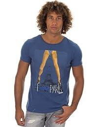 T-shirt à manches courtes Panam Bleu Japan Rags