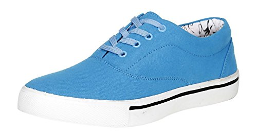 Foot n Style Men's Sky Blue Canvas Sneakers - 7 UK  available at amazon for Rs.494