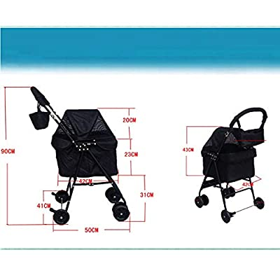 NGB Pet Roadster - Luxury Pet Stroller for Puppy, Senior Dog or Cat | Easy Foldable loading 10 kg by NGB