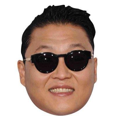 Celebrity Cutouts PSY Maske aus Karton