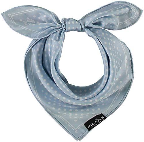 FRAAS FRAAS Bandana Tuch gepunktet - elegantes Nickituch für Damen - schickes Seidentuch mit Polka Dots - Haarband gepunktet - Dreieckstuch für den Sommer Hellblau
