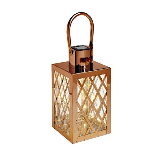 Cole & -Bright L26215 - Farol de Acero Inoxidable con 30 LED (Alambre Solar, 15 x 15 x 33 cm)