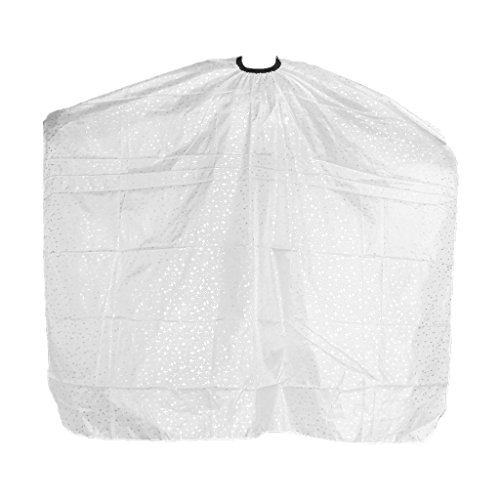 Cape de Coupe en Polyester Professionnelle pour Salon de Coiffure - Blanc