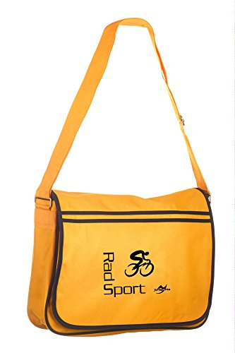 Retro Messenger Bag BG71 gold/schwarz Radsport