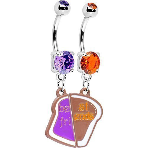 peanut-butter-and-jelly-best-friends-belly-ring-set