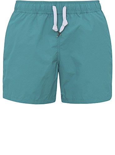 oodji Ultra Herren Badeshorts mit Kontrastfarbigen Bindebändern, Grün, verschiedene Größen