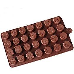 Mioloe Emoji cara divertida torta hornear molde Herramientas torta molde silicona bricolaje chocolate azúcar caramelo fondant jabón jalea molde