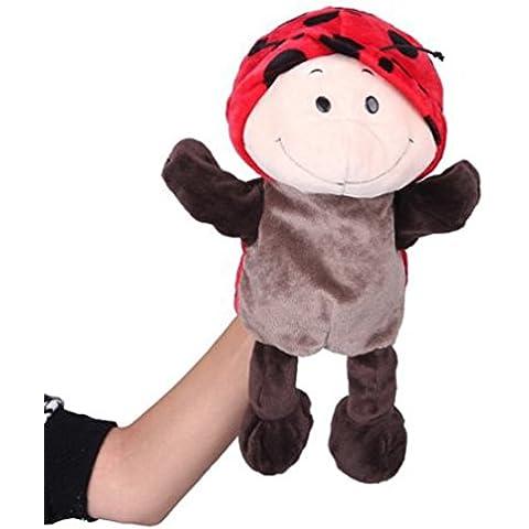 JTC Per Bambini imparano Storia giocattoli di Peluche Bambole Zoo Animal Burattino a Dita (coccinella )