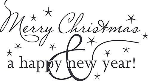 GRAZDesign Weihnachtsdeko Wandtattoo Weihnachten - Türaufkleber Silvester - Wanddeko Winter - Wandtattoo Sterne / 105x57cm / 073 dunkelgrau / 830018_57_073