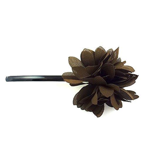 rougecaramel - Accessoires cheveux - Mini pince fleur - marron