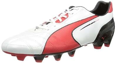 Puma Spirit FG 102671 Herren Fußballschuhe, Weiß (metallic white-high risk red-black 05), EU 39 (UK 6) (US 7)