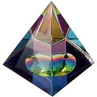 Matefielduk Cristal de Cuarzo cristalino de la pirámide Decorativa Prismas claras pirámide de Reiki energía cargada curación de Piedras Preciosas