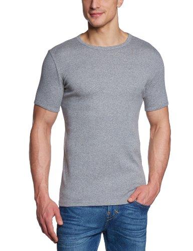 edc by ESPRIT - T-shirt con scollo tondo, Uomo Grigio (Grau (Medium Grey Melange 070))