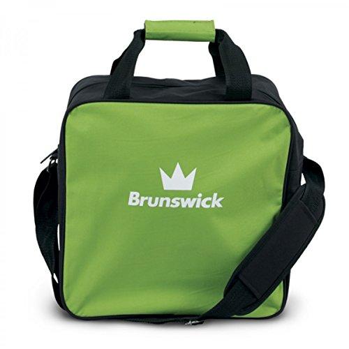 Brunswick TZone Single Tote 1-Ball-Bowling-Tasche für einen Bowlingball Lime