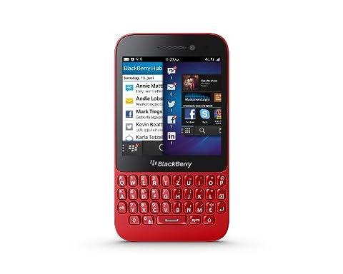 BlackBerry Q5 Smartphone (7,84 cm (3.1 Zoll) Display, QWERTZ-Tastatur, 5 MP Kamera, 8 GB interner Speicher, NFC, Blackberry 10.1 Betriebssystem) rot